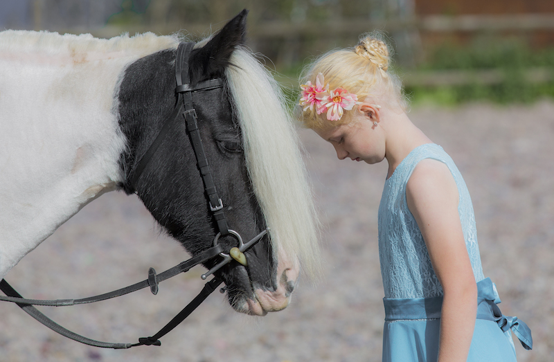 Belle the Cob and Child – Emma Lowe Horse Photography