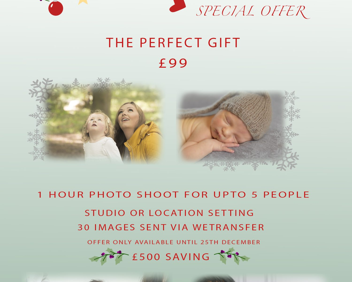 Christmas Gift offer Emma Lowe Photography